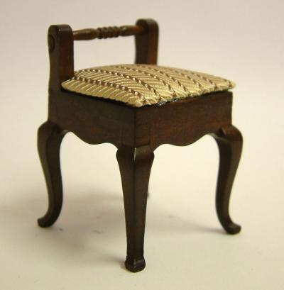 Dolls House Miniature Walnut Chair (XY207W)