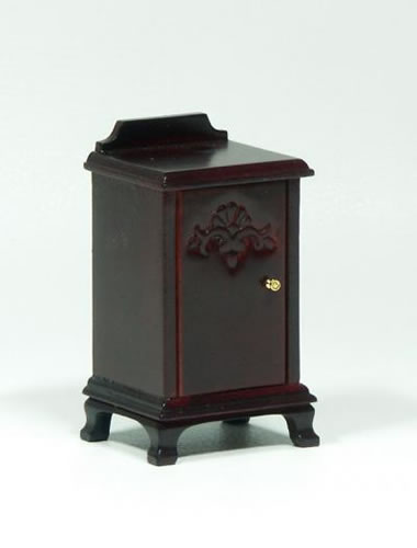 Dolls House Miniature Mahogany Bedside Table (XY554M)