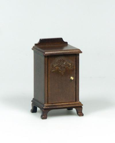 Dolls House Miniature Walnut Bedside Table (XY554W)