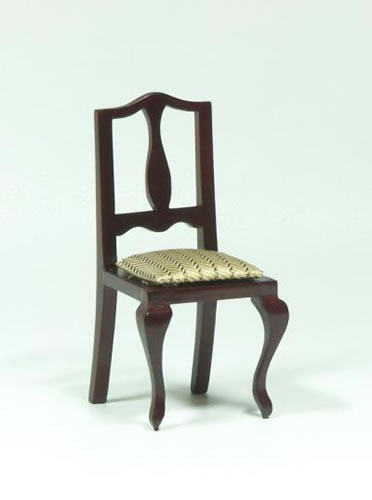Dolls House Miniature Mahogany Chair (XY555M)