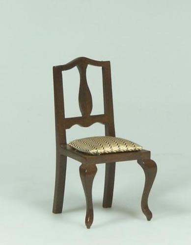 Dolls House Miniature Walnut Chair (XY555W)