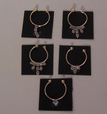 Diamante Set of 5 Necklaces, Dolls House Miniature (XY651)
