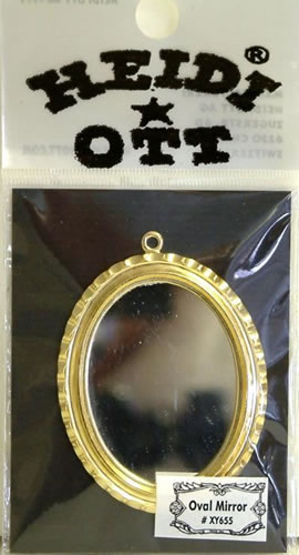 Dolls House Miniature Oval Mirror (XY655)