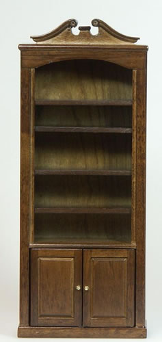 Dolls House Miniature Walnut Bookcase/Shelf Unit (XY702W)