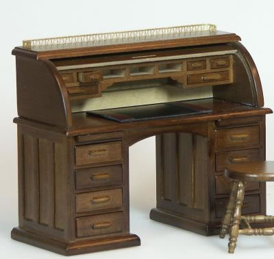 Dolls House Miniature Walnut Desk (XY750W)