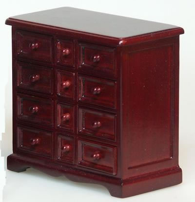 Dolls House Miniature Mahogany Chest Of Drawers (XY752M)
