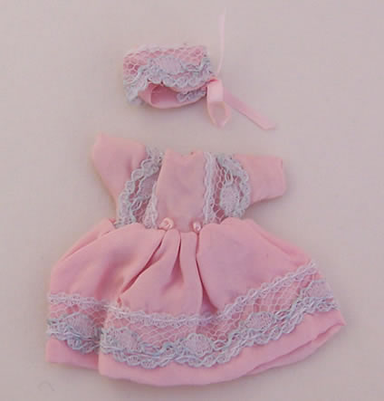 Pink Baby Outfit, Dolls House Miniature (XZ855)