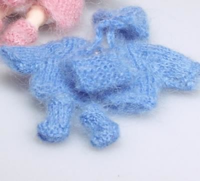 Blue Toddler Outfit, Dolls House Miniature (XZ876)