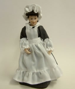 Heidi Ott Dolls House Doll, Maid with Black and White Outfit (X019)