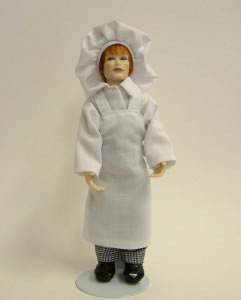 Heidi Ott Dolls House Doll, Male Cook - Chef (X026)