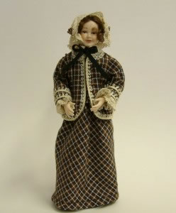 Heidi Ott Dolls House Doll, Lady with Cape (X028)