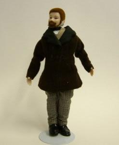 Heidi Ott Dolls House Doll, Man with a Beard (X047)