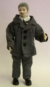 Heidi Ott Dolls House Doll, Tall Man with Grey Hair (X060)