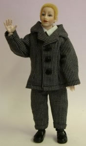 Heidi Ott Dolls House Doll, Tall Man with Blonde Hair (X061)