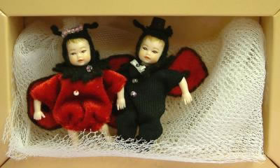 Heidi Ott Dolls House Doll, 2 Ladybird Babies (XB025)