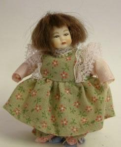 Heidi Ott Dolls House Doll, Toddler Girl in a Dress (XB502)