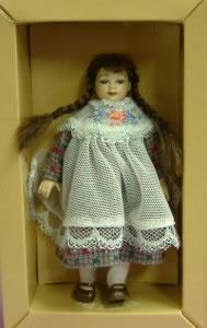 Heidi Ott Dolls House Doll, Young Girl with Plaits (XC003)