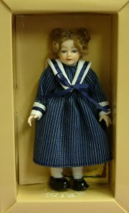 Heidi Ott Dolls House Doll, Young Girl in a Blue Dress (XC005)