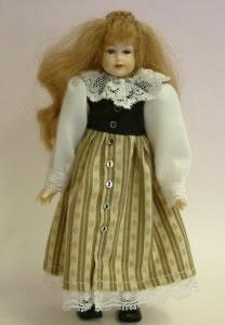 Heidi Ott Dolls House Doll, Teenager Girl in a Dress (XC500)