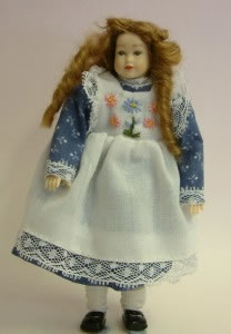 Heidi Ott Dolls House Doll, Teenager Girl in a White Dress (XC502)