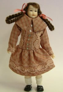 Heidi Ott Dolls House Doll, Teenager Girl with Plaits (XC505)