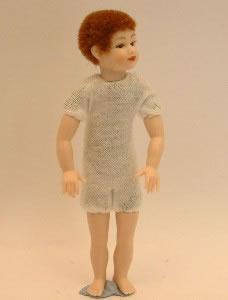 Heidi Ott Dolls House Doll, Young Boy with Brown Short Hair (XKK04)