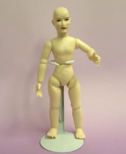 Heidi Ott Dolls House Doll, Nude Man with Brown Eyes (XKM02)