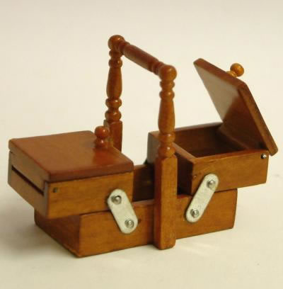 Dolls House Miniature Cherry Sewing Box (XY202C)