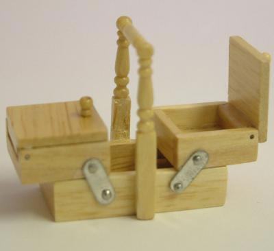 Dolls House Miniature Pine Sewing Box (XY202P)