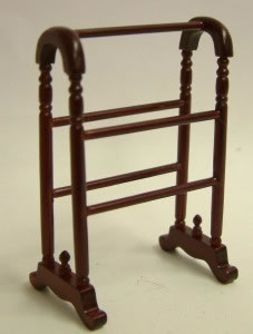 Dolls House Miniature Mahogany Clothes/Towel Stand (XY205M)