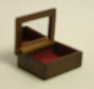 Dolls House Miniature Walnut Jewellery Box (XY601W)
