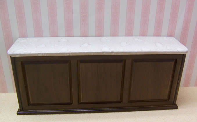 Dolls House Miniature Walnut Shop Counter (XY706W)