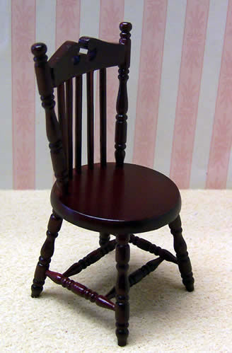 Dolls House Miniature Mahogany Office Chair (XY716M)