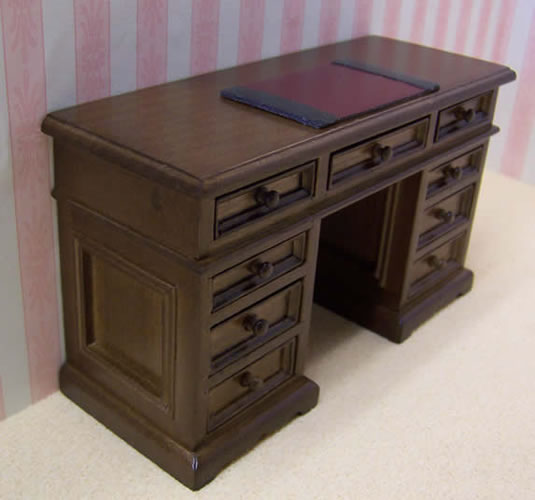 Dolls House Miniature Walnut Desk (XY751W)