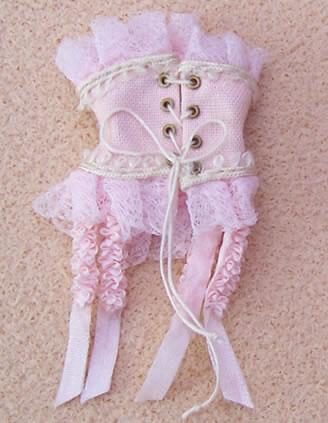 Corset- Rose, Dolls House Miniature (XZ904)