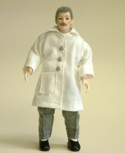 Heidi Ott Dolls House Dentist Doll, Man in a White Coat (X025)