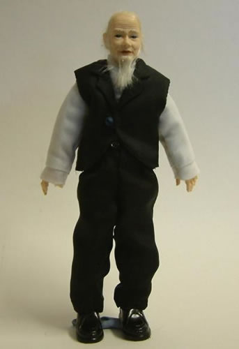 Heidi Ott Dolls House Doll, Old Man with a Beard (X053)