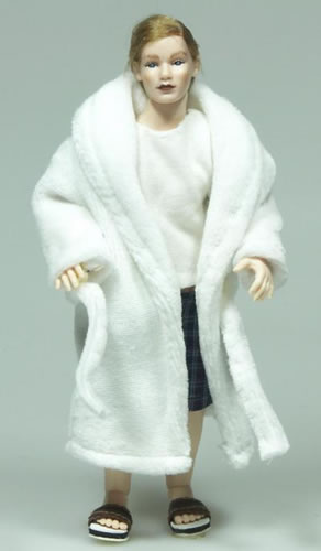 Heidi Ott Dolls House Doll, Man in a White Robe (X080)