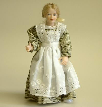 Heidi Ott Dolls House Doll, Maid in Lemon & Green (X086)