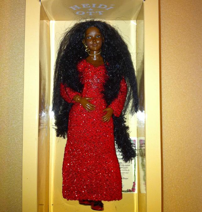 Heidi Ott Lady Doll in a red evening dress (X108)