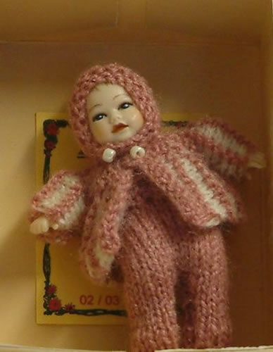 Heidi Ott Dolls House Doll, Baby in a Pink Outfit (XB022)