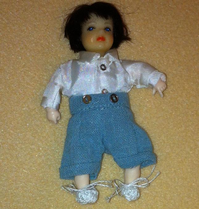 Heidi Ott Dolls House Doll, Toddler in School Uniform (XB512)