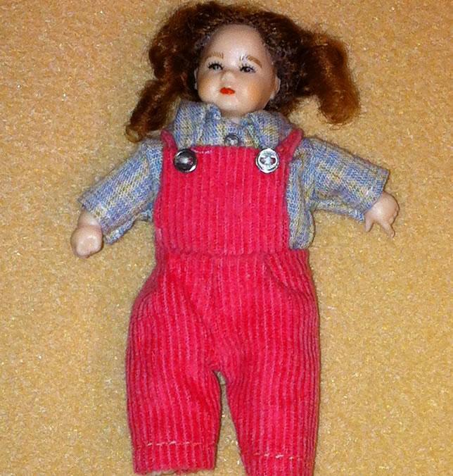 Heidi Ott Dolls House Doll, Toddler Girl in Red (XB510)