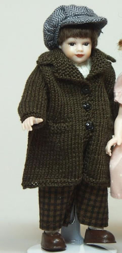 Heidi Ott Dolls House Doll, Young Boy in an Outdoor Coat (XC023)