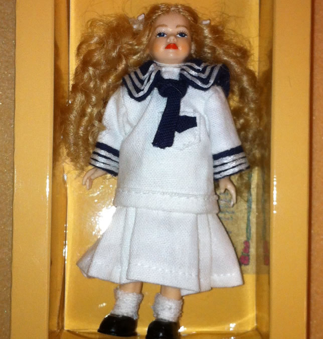 Heidi Ott Dolls House Doll, Young Girl in a Sailor Outfit (XC032)