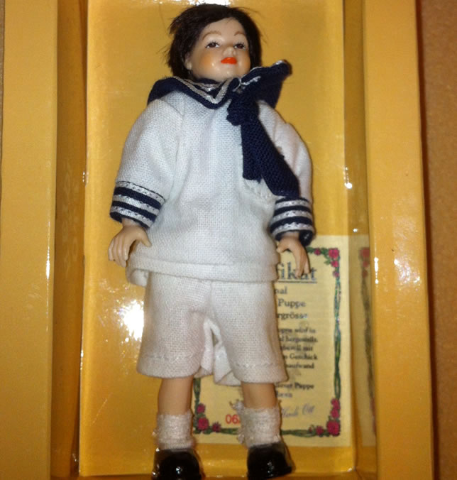 Heidi Ott Dolls House Doll, Young Boy in a Sailor Outfit (XC033)