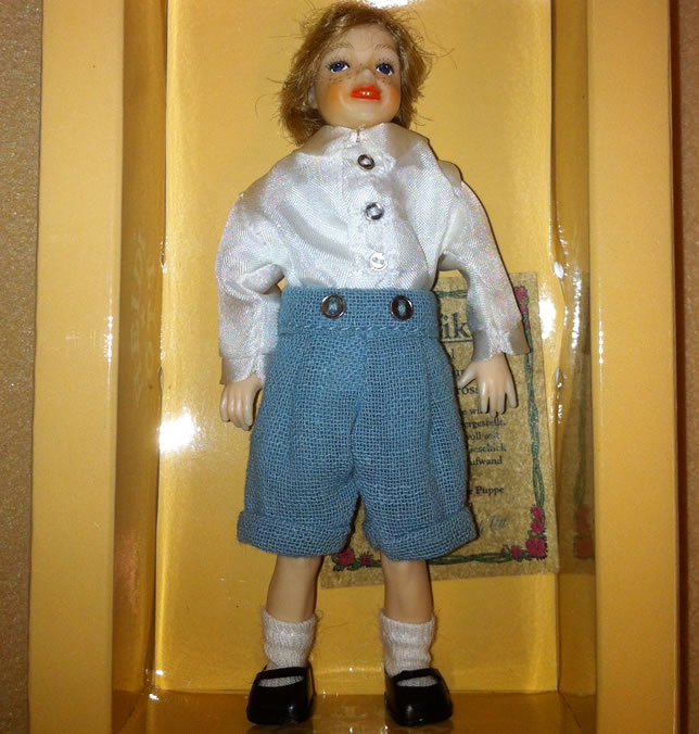 Heidi Ott Dolls House Doll, Child in a School Uniform (XC034)