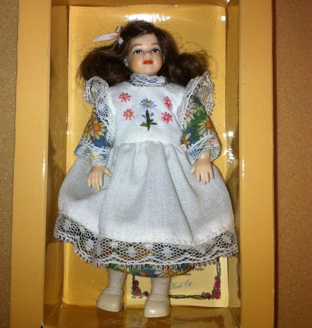 Heidi Ott Child Doll Girl in a white dress (XC039)
