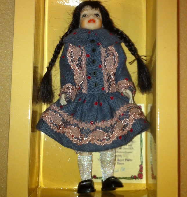 Heidi Ott Child Doll Girl in a dress (XC040)
