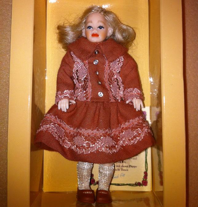 Heidi Ott Child Doll Girl in a red dress (XC041)